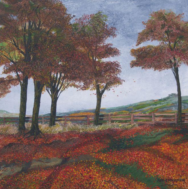 5 autumn trees